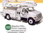 First Gear Maquoketa Valley REC Ford F650 Basket Truck